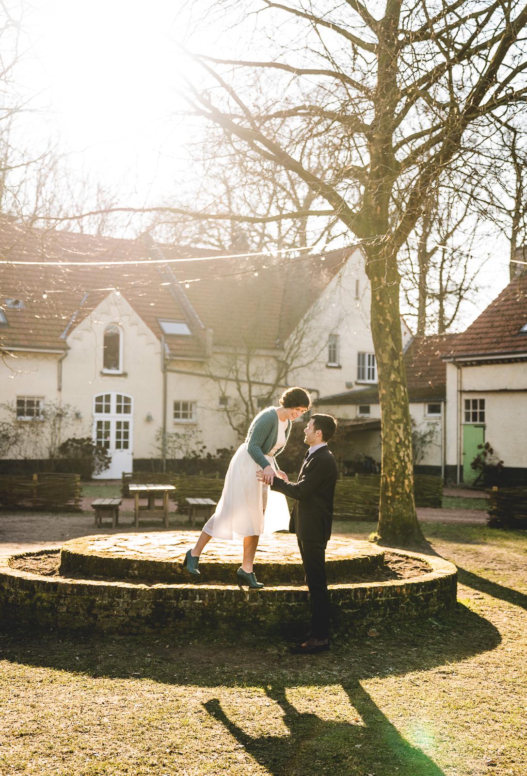 trouwen in de winter boerderij