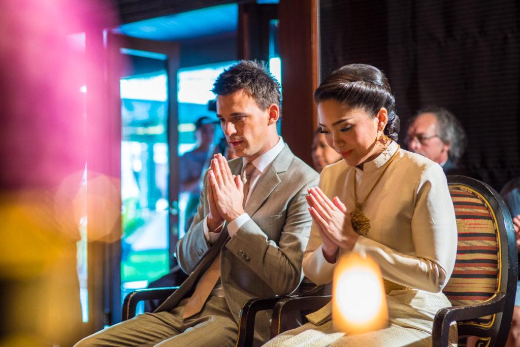 Thaise ceremonie boeddhistische