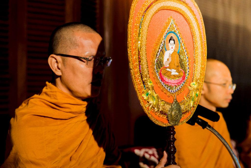 Thaise boeddhistische ceremonie