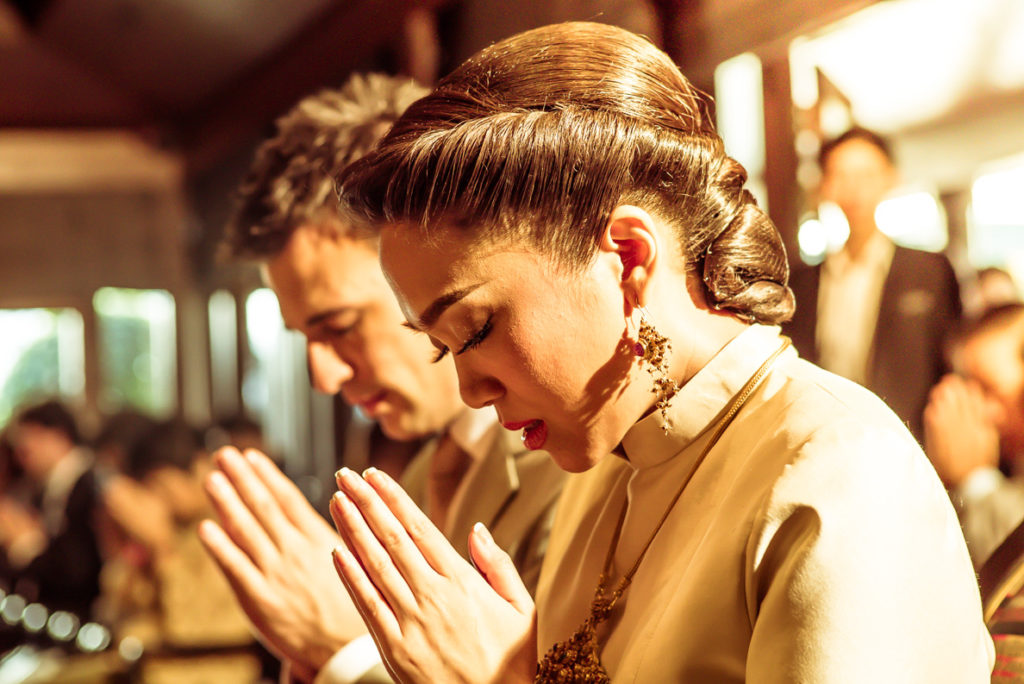 Thaise boedhistische ceremonie