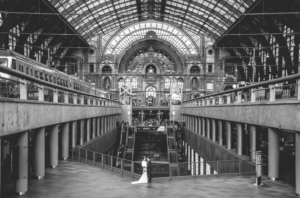Trouw Fotoshoot Antwerpen centraal Station