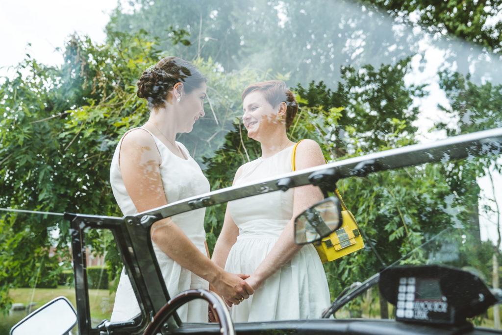 trouwen steenhuffel fotograaf trouwauto