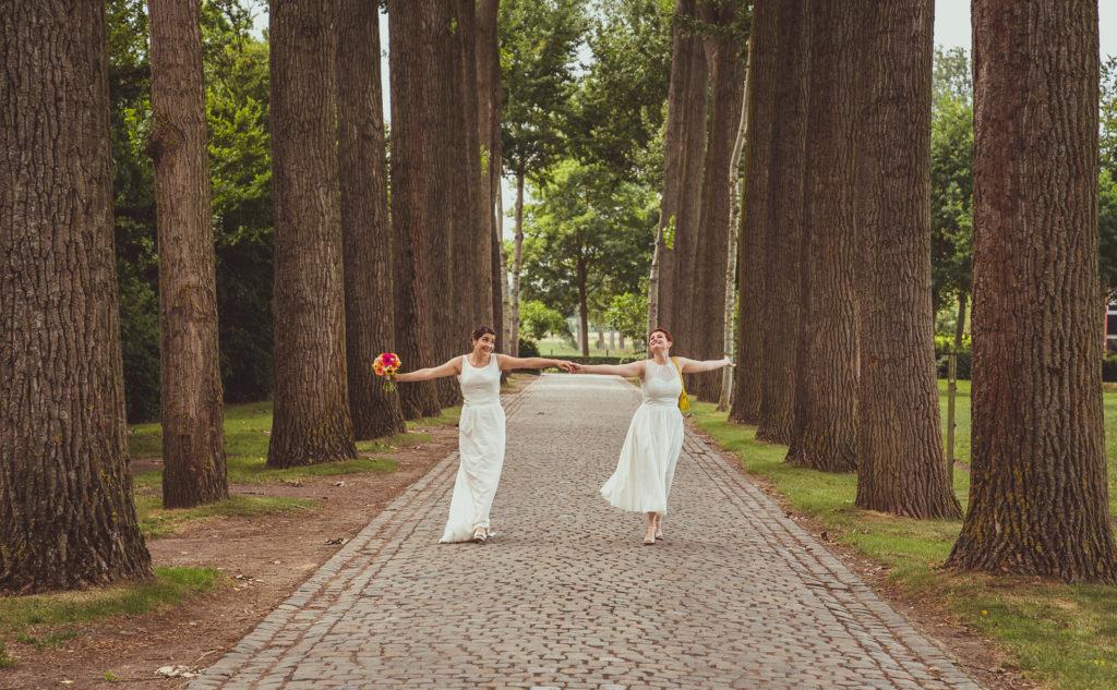 boeket trouwen bos trouwen steenhuffel fotograaf