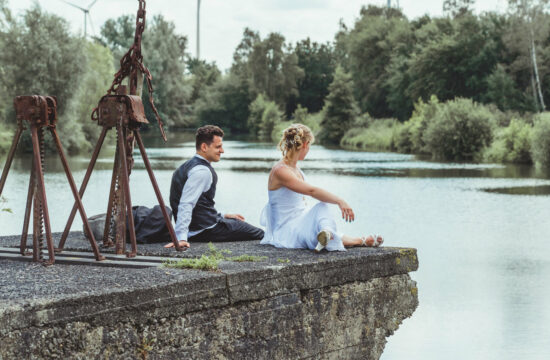 trouwen Melle vijver foto's